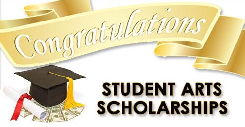 Student Arts Scholarship Congrats